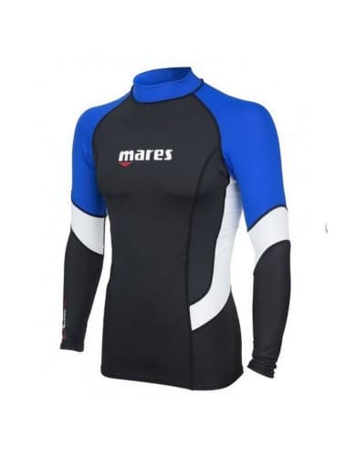 בגדי ים Mares Rash לגברים Mares Rash Guard Trilastic - כחול/שחור