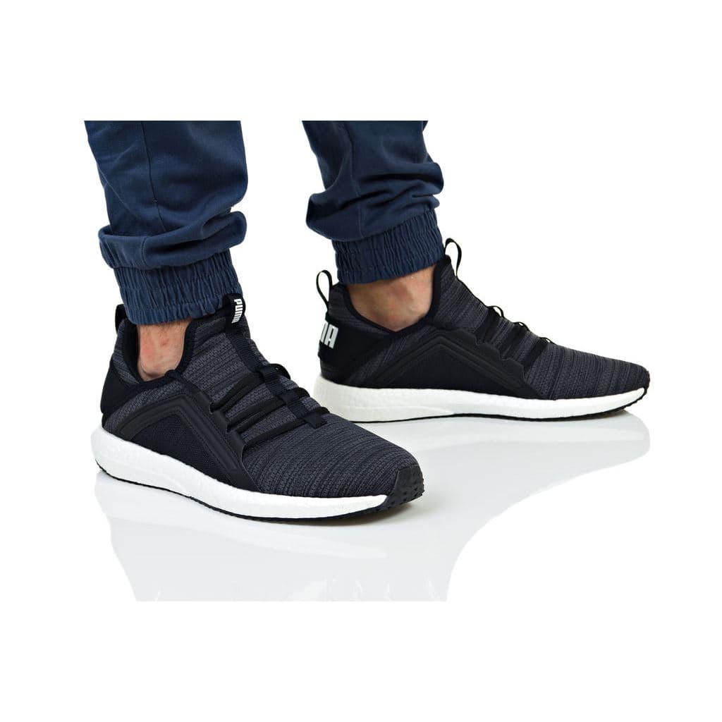 נעלי הליכה פומה לגברים PUMA MEGA NRGY HEATHER KNIT - אפור כהה ... 7446cdb66