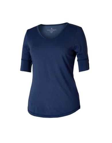 ביגוד רויאל רובינס לנשים Royal Robbins MRNLX VNCK TEE - כחול כהה