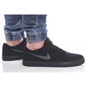 נעליים נייק לגברים Nike SB CHECK SOLAR CNVS - שחור/אפור