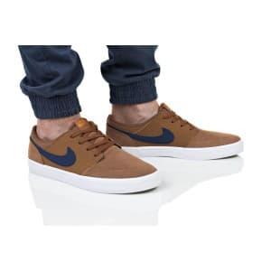 נעליים נייק לגברים Nike SB PORTMORE II - חום