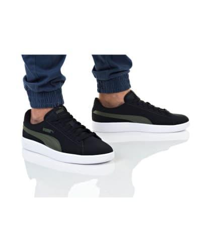 נעליים פומה לגברים PUMA SMASH V2 BUCK - שחור/ירוק