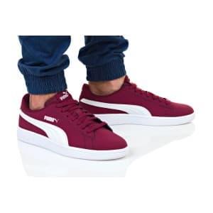 נעליים פומה לגברים PUMA SMASH V2 BUCK - בורדו