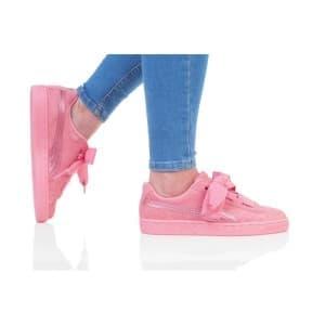 נעלי הליכה פומה לנשים PUMA SUEDE HEART SNK JR - ורוד