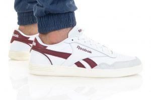 נעלי סניקרס ריבוק לגברים Reebok ROYAL TECHQUE T - לבן הדפס
