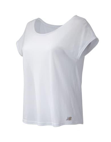 חולצות אופנה ניו באלאנס לנשים New Balance WT71450 - לבן