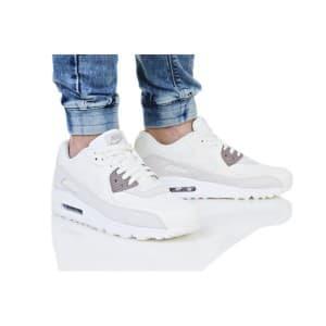 נעליים נייק לגברים Nike AIR MAX 90 PREMIUM - אפור/לבן
