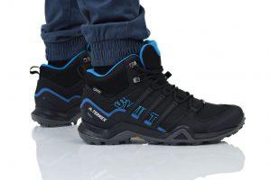 נעליים אדידס לגברים Adidas TERREX SWIFT R2 MID GTX - שחור/כחול