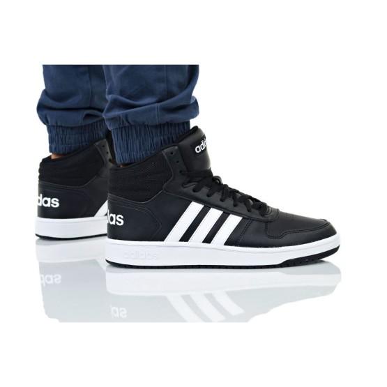 נעלי סניקרס אדידס לגברים Adidas HOOPS 2 MID - לבן/שחור