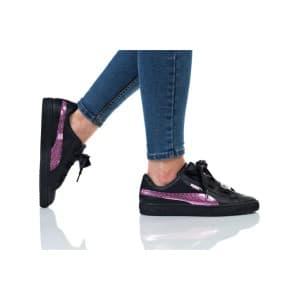נעלי הליכה פומה לנשים PUMA BASKET HEART BLING JR - ורוד/שחור