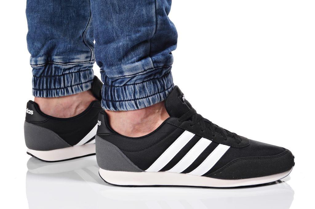 נעליים אדידס לגברים Adidas V RACER 2 - שחור/אפור