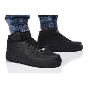 נעלי הליכה נייק לגברים Nike AIR FORCE 1 MID - שחור