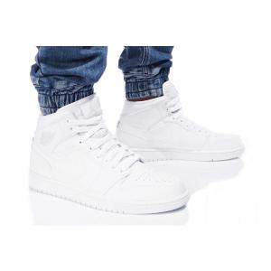 נעלי הליכה נייק לגברים Nike AIR JORDAN 1 MID - לבן