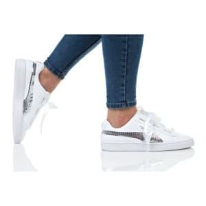נעלי הליכה פומה לנשים PUMA BASKET HEART BLING JR - לבן