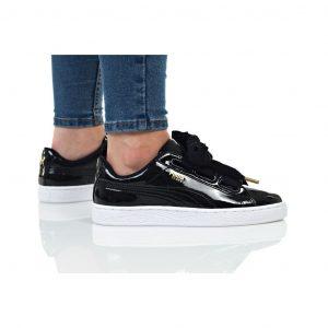 נעלי סניקרס פומה לנשים PUMA BASKET HEART PATENT WN - שחור