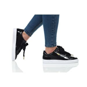 נעלי הליכה פומה לנשים PUMA BASKET HEART PATENT WN - שחור