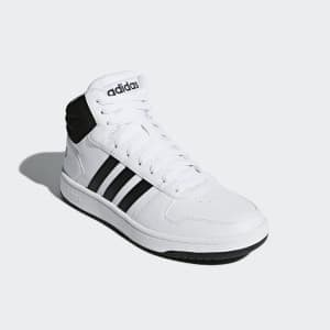 נעלי הליכה אדידס לגברים Adidas HOOPS 2 MID - שחור/לבן