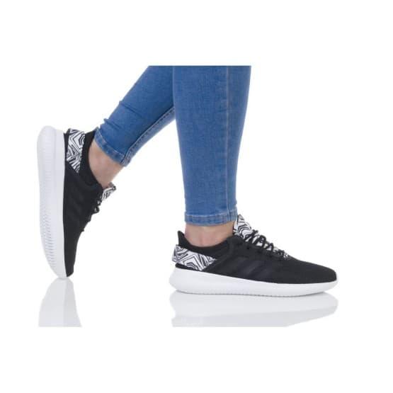 נעלי הליכה אדידס לנשים Adidas CF QTFLEX - שחור הדפס