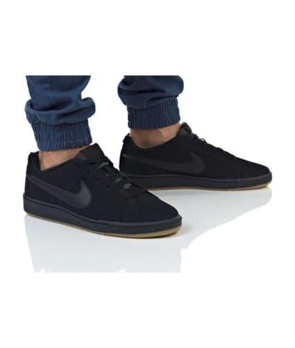 נעלי הליכה נייק לגברים Nike COURT ROYALE SUEDE - שחור/אפור