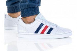 נעלי סניקרס אדידס לגברים Adidas VS PACE - לבן  כחול  אדום