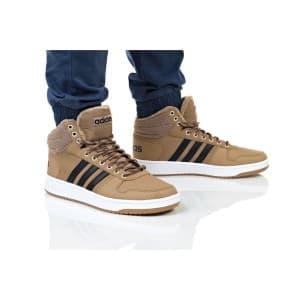 נעלי הליכה אדידס לגברים Adidas HOOPS 2 MID - חום