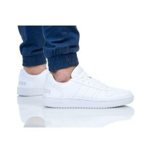 נעלי סניקרס אדידס לגברים Adidas HOOPS 2 - לבן מלא