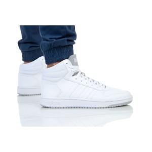 נעלי הליכה אדידס לגברים Adidas HOOPS 2 MID - לבן/אפור