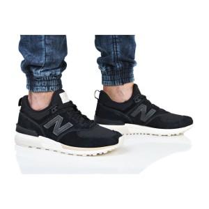 נעליים ניו באלאנס לגברים New Balance MS574 - שחור/לבן