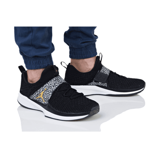 נעלי אימון נייק לגברים Nike NIKE JORDAN TRAINER 2 FLYKNIT - שחור/אפור