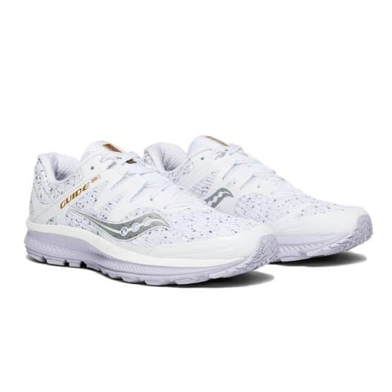 נעליים סאקוני לנשים Saucony GUIDE ISO - לבן נצנצים
