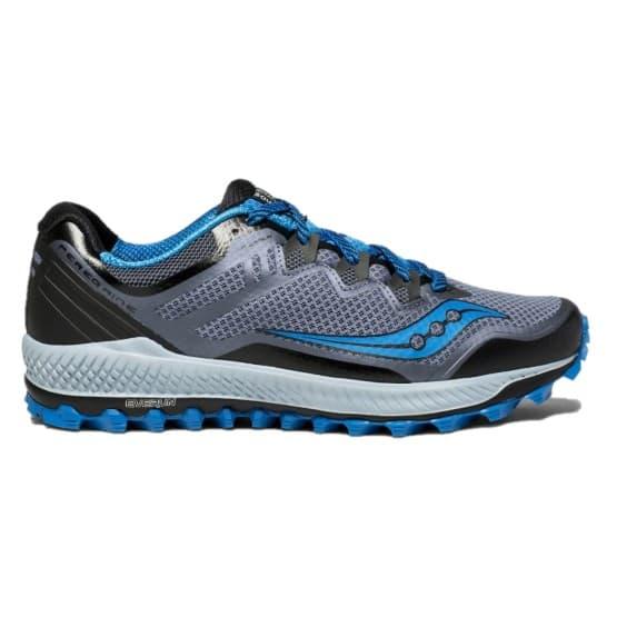 נעליים סאקוני לגברים Saucony PEREGRINE 8 - אפור/טורקיז