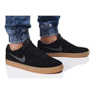 נעליים נייק לגברים Nike SB CHECK SOLAR - שחור/אפור
