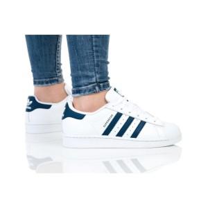 נעלי הליכה Adidas Originals לנשים Adidas Originals SUPERSTAR J - כחול/לבן