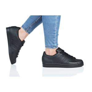 נעלי הליכה Adidas Originals לנשים Adidas Originals SUPERSTAR J - שחור מלא