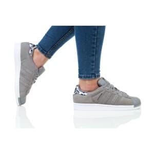 נעלי הליכה Adidas Originals לנשים Adidas Originals SUPERSTAR J - אפור