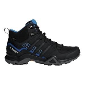 נעלי טיולים אדידס לגברים Adidas TERREX SWIFT R2 MID GTX - שחור/כחול