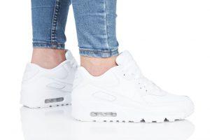 נעליים נייק לנשים Nike  AIR MAX 90 LTR K - לבן מלא