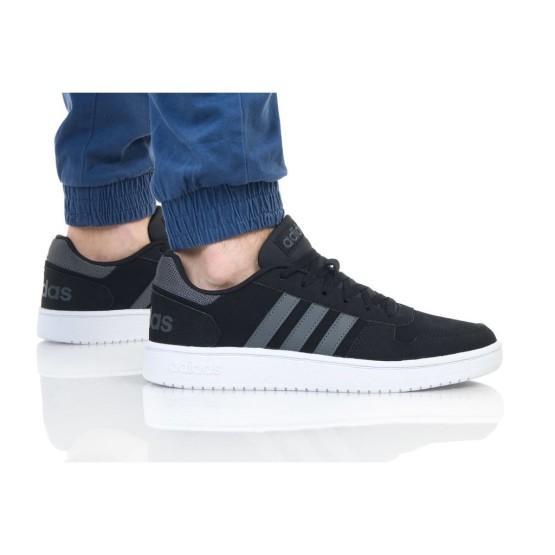 נעליים אדידס לגברים Adidas HOOPS 2 - שחור/אפור