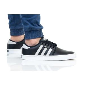 נעלי סניקרס אדידס לגברים Adidas Originals SEELEY - שחור/לבן