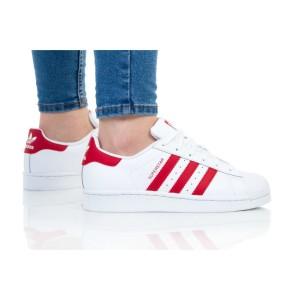 נעלי הליכה Adidas Originals לנשים Adidas Originals SUPERSTAR J - לבן/אדום