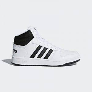 נעלי סניקרס אדידס לגברים Adidas HOOPS 2 MID - שחור/לבן