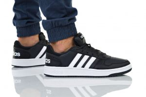 נעליים אדידס לגברים Adidas HOOPS 2 - שחור/לבן