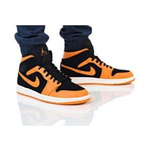 נעלי הליכה נייק לגברים Nike AIR JORDAN 1 MID - כתום/שחור