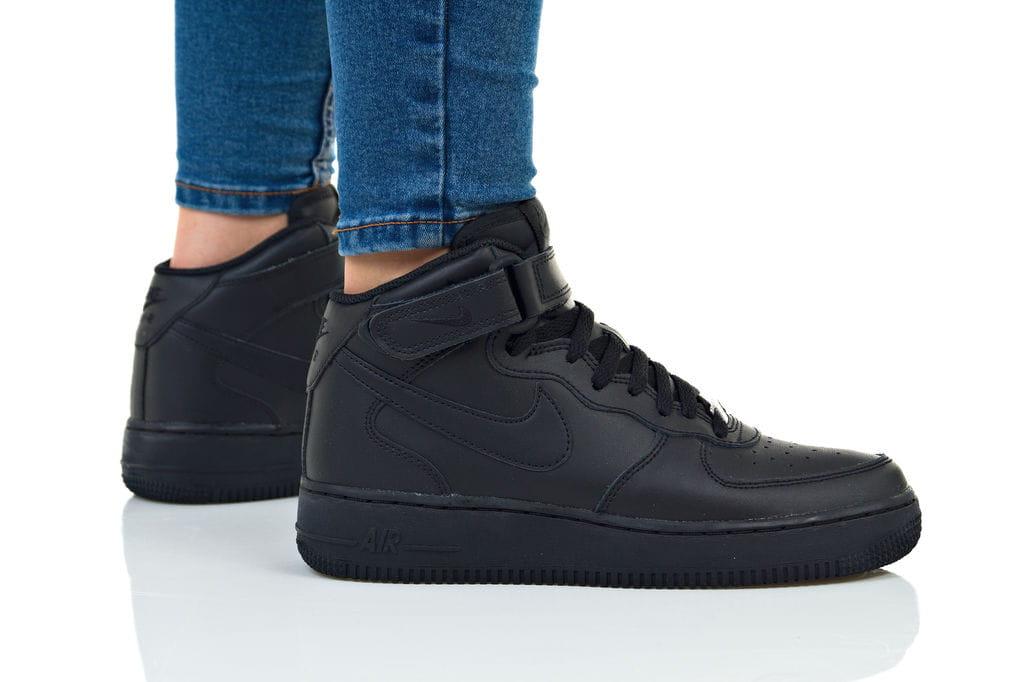 נעליים נייק לנשים Nike AIR FORCE 1 MID - שחור