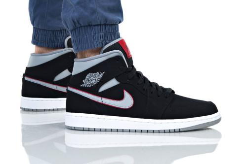 נעלי הליכה נייק לנשים Nike AIR JORDAN 1 MID - שחור/כסף