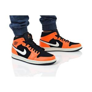 נעלי הליכה נייק לגברים Nike AIR JORDAN 1 MID - כתום