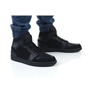 נעלי הליכה נייק לגברים Nike AIR JORDAN 1 MID - שחור מלא