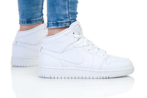 נעלי הליכה נייק לנשים Nike AIR JORDAN 1 MID - לבן