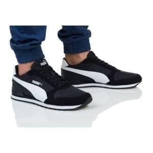 נעלי הליכה פומה לגברים PUMA ST RUNNER V2 NL - שחור/לבן