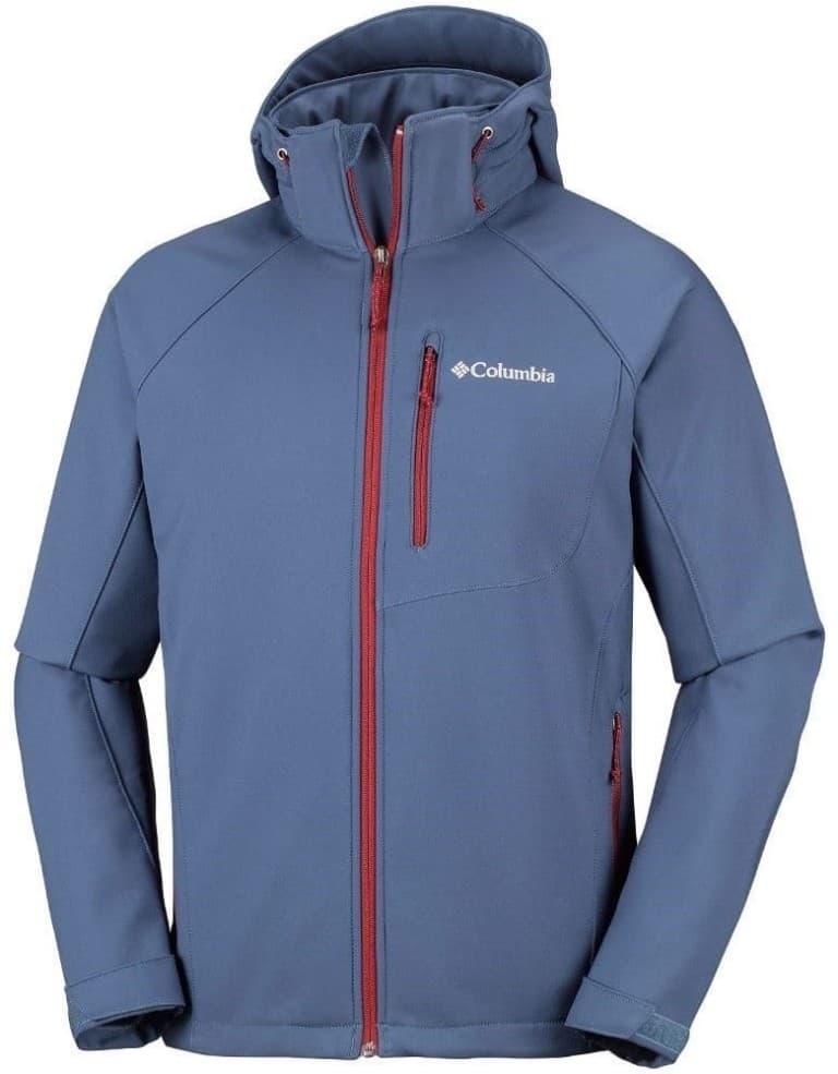 בגדי חורף קולומביה לגברים Columbia Cascade Ridge II Softshell - כחול/אדום